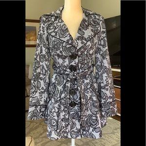 Vintage Candie's size medium trench/ rain coat